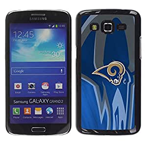 Ram Equipo deportivo - Metal de aluminio y de plástico duro Caja del teléfono - Negro - Samsung Galaxy Grand 2