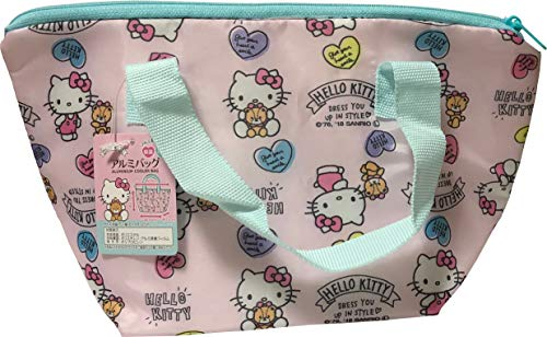 FRIEND Sanrio Hello Kitty Lunch Box Bento Aluminium Heat Insulation Cooler Bag (Heart)