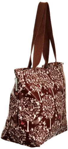 Re-uz Medium Oilcloth Tote Brown Fairytale - Bolso de tela para mujer marrón - Brown/White