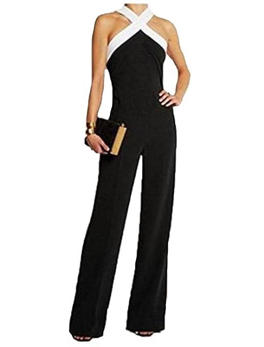 nice shoes 0c1cd 4efe7 tuta con pantaloni lungo vestito abito cerimonia da donna elegante casual  party