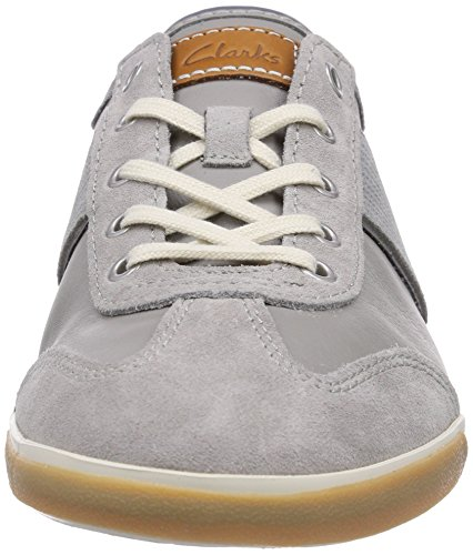 Clarks Mego Walk - zapatilla deportiva de cuero hombre gris - Grau (Grey Combi Lea)