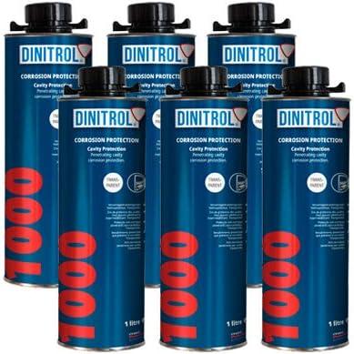 Rejel Dinitrol 1000 Hohlraumwachs Hohe Feststoffe Klar 1 Liter Dose 6 Stück Auto
