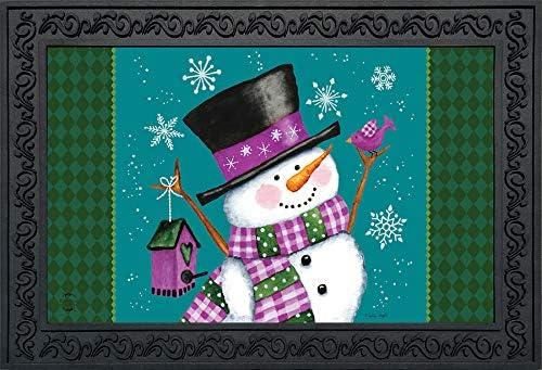 Briarwood Lane Winter Wonderland Snowman Doormat Primitive Indoor Outdoor 18 x 30