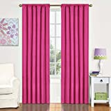 Eclipse Kids Kendall Blackout Thermal Curtain Panel,Raspberry,42-Inch X 63-Inch