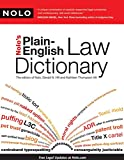 img - for Nolo's Plain-English Law Dictionary book / textbook / text book