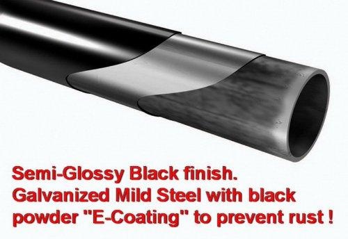 MaxMate Premium Custom Fit 03-10 Hummer H2 Black 3 Side Step Rails Nerf Bars Running Boards 2pcs with Mounting Bracket Kit