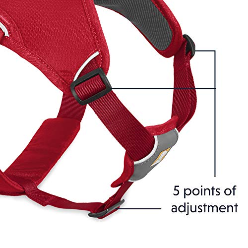 RUFFWEAR - Web Master, Multi-Use Support Dog Harness, Hiking and Trail Running, Service and Working, Everyday Wear, Red Currant, X-Small by RUFFWEAR (Image #4)