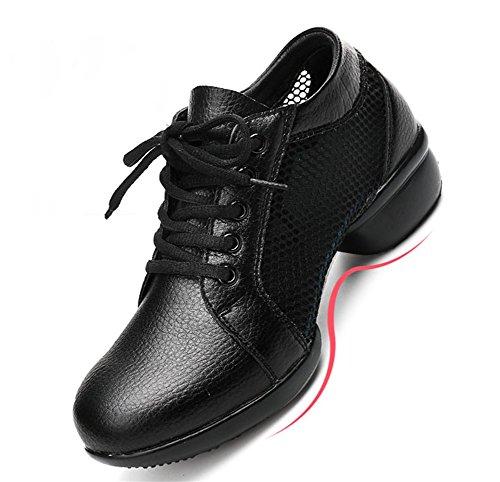 Moyens À Noir Danse Carré Maille Souple De Chaussures Xw Femelle Moderne 40 Adulte 34 Talons Wx Femmes qHpxP