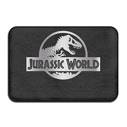 Non-slip Jurassic World Black A Platinum Logo 40*60cm Doormat Oxjwn