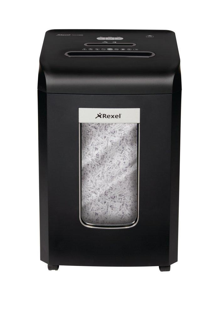 Rexel Promax RSX1035 Aktenvernichter für Kleinbüros, Partikelschnitt, Manueller Einzug, 35L Abfallbehälter, 10 Blatt Kapazität,, Schwarz, 2100885A 35L Abfallbehälter 10 Blatt Kapazität 2100885A