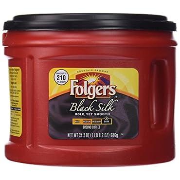 Folgers Black Silk Ground Coffee, 24.2 oz