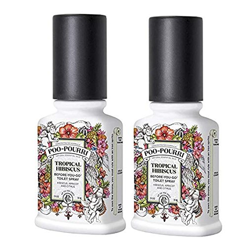 Poo Pourri Tropical Hibiscus Before You Go Spray 2 oz - 2 Pack