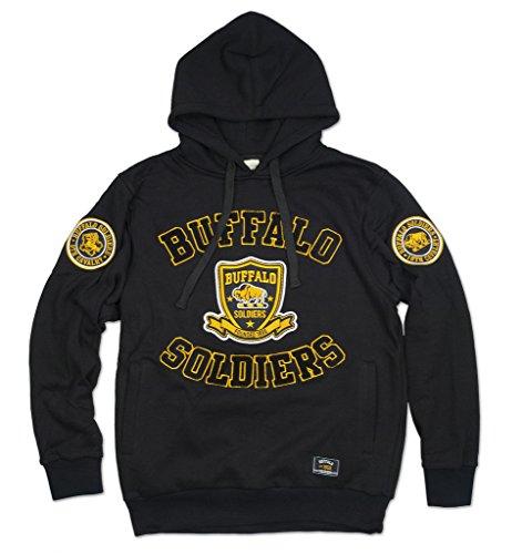 - Big Boy Headgear Buffalo Soldiers Mens New Athletic Hoodie Large Black