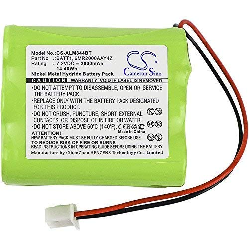 Cameron Sino Battery For 2GIG 228844, Fits 2GIG Go Control panels, Ni-MH 7.20V 2000mAh / 14.40Wh from Cameron Sino