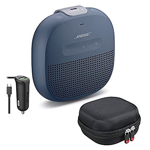 Bose SoundLink Micro Bluetooth Speaker, Midnight Blue, with Protective Hardshell Travel Case and Micro USB Car Charger by Bose (Image #1)