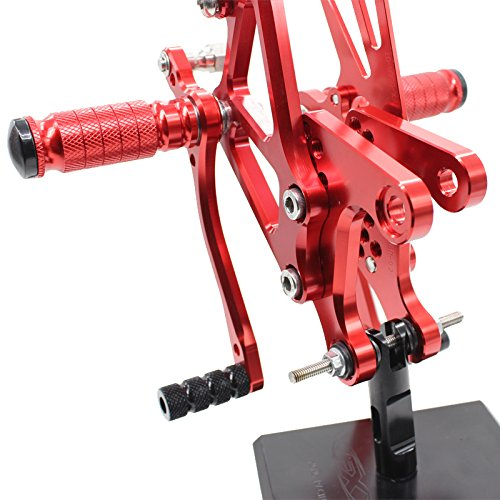 Krace Motorcycle Front Rearsets Foot Pegs Footrests For Kawasaki Ninja ZX6R ZX636 2005-2008 2006 2007 Red