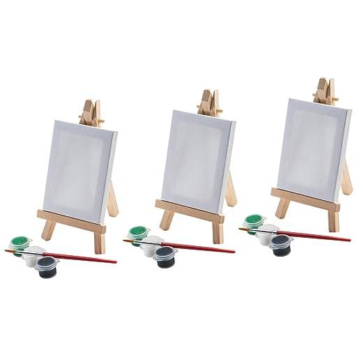 Mini Staffelei Mit Leinwand Farben Und Pinsel Malen Tischdekoration
