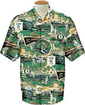 913449fb Image Unavailable. Image not available for. Colour: Oakland Athletics Reyn  Spooner Royal Hawaiian ...