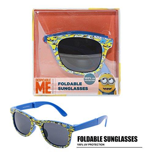 [NBC Universal Despicable Me Foldable Kid's Sunglasses Blue] (Despicable Me Glasses)