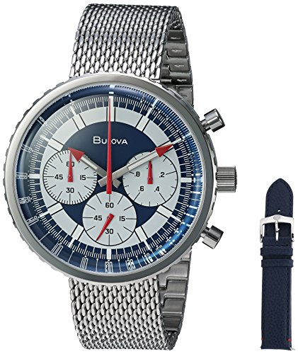 Bulova Men's Quartz Stainless Steel Casual Watch, Color:Silver-Toned (Model: ()