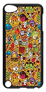 Colorful Sticker Illustrations Protective Hard PC Snap On Case for ipod touch 5 -1122020