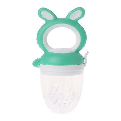 Baby Feeder dentición fruta verduras Chupete comer Nippel silicona niños Aspiradora, plástico, verde, medium