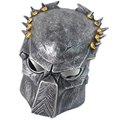 Material :top grade resin;  Model name: Halloween mask;  Size:19x26cm;  weight:536g;  package weight:780g;  package:paper box; Predator Mask Lone Wolf Cosplay Halloween Face Mask Collection Pure Handmade Man Helmet Movie Theme of Predator Res...