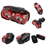 1 Pcs Unblemished Popular Style 5 LED Bike Lights Waterproof Cycling Night Bicycle Rear Flashing Color Red with Mount