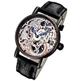 Rougois Tattoo Rose Gold Mechanical Skeleton Watch RS10004, Watch Central