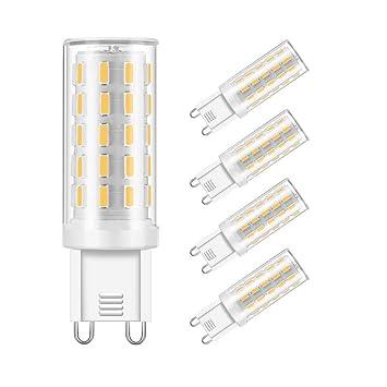 GJR-JJ G9 Bombilla LED 3000K luz Blanca cálida g9 llevó Bombillas 3W Equivalente 40W Bombilla halógena reemplazo no Regulable lámpara incandescente 5 ...