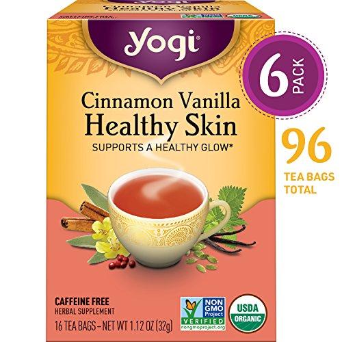 Yogi Tea - Cinnamon Vanilla Healthy Skin - Supports a Healthy Glow - 6 Pack, 96 Tea Bags Total