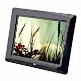 8-Inch 800x600 High Resolution Digital Photo Frame With Auto On/Off Timer, MP3 and Video Player, Black