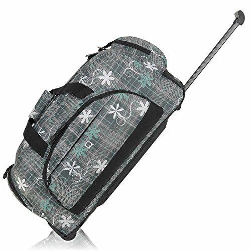 DANIEL RAY ® Reisetrolley Sporttasche Trolley Tasche MINT FLOWER - 70 cm - XL