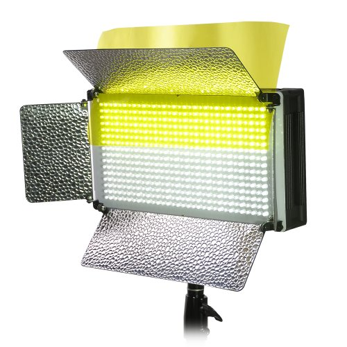 AW 500pcs LED Light Panel Kit Photo Video Studio Lighting Dimmer Mount 5500K Portrait Photography by AW