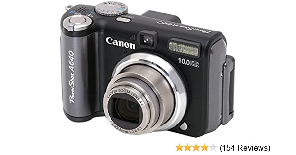 30969baa8 Amazon.com : Canon PowerShot A640 10MP Digital Camera with 4x Optical Zoom  : Point And Shoot Digital Cameras : Camera & Photo