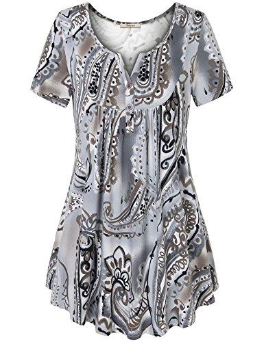 Bebonnie Womens Vintage Sleeve Pleated