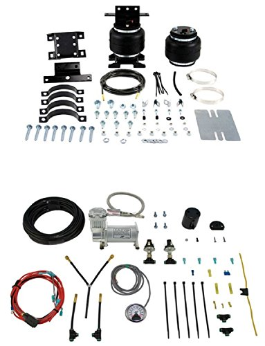 Air Lift 88105/25854 Set of Rear Load Lifter 5000 Ultimate Series w/Load Controller Dual Compressor Kit System for G25/G35/B100/B200/B300/B150/B250/B350/G20/G30 ()