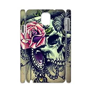 Diy Floral Sugar Skull Phone Case for samsung galaxy note 3 3D Shell Phone JFLIFE(TM) [Pattern-1]
