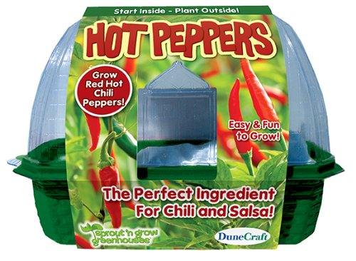 DuneCraft Hot Peppers Sprout and Grow Greenhouse