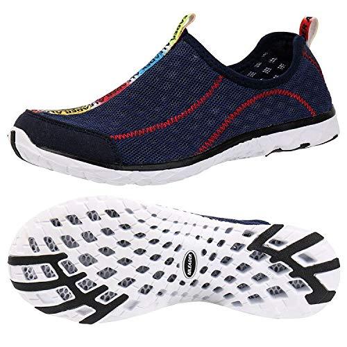 ALEADER Men's Mesh Slip On Water Shoes Navy 9.5 D(M) US