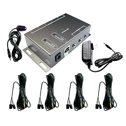IR Repeater,IR Remote Control Extender,Infrared Repeater System (4 Dual Head ir emitter)