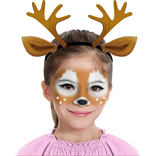 Almar Sales Company INC Deer Makeup Kit for Teens and Adults, Halloween Makeup, 8 Pieces -