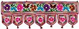 Indian Toran Door Decoration Window Valance Handmade (Off-White, 34 x 13 inches)