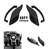 Black Side Wings Air Deflectors for Harley touring Street Glide 2014-2017