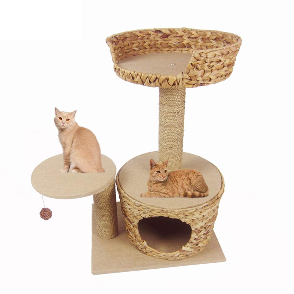 Jia He Cat Tree Summer cat Tree sisal Rattan cat nest Winter Solid Wood cat Villa cat Palace Four Seasons Universal Toy @@