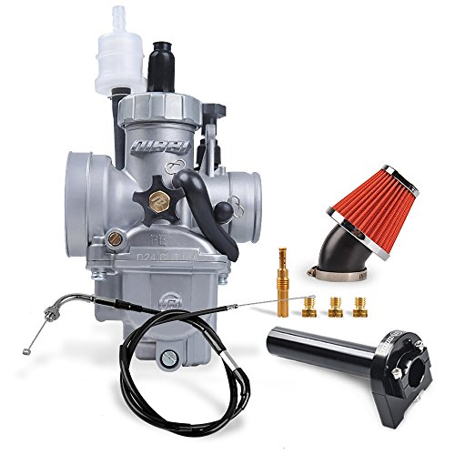 ginal Carburetor Kit Oxidize PE24MM Throttle Line Handlebar 48MM Intake Air Filter Fit 50-125CC Motorcycle Scooter Atv Dirt bike Honda Yamaha Suzuki Kawasaki SSR CG GY6 Engine ()