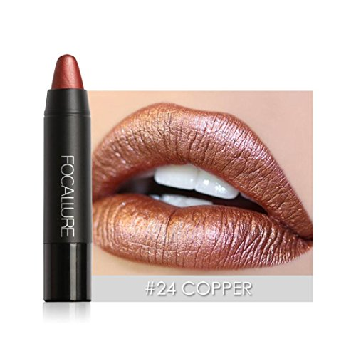 Hot Sales! DEESEE(TM) FOCALLURE Matte Lipstick Pen Waterproof Lasting 8 Color Optional Lip Makeup (E)