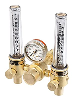 Victor Technologies 0781-1153 DFM-150-580 Medium Duty Flow Meter Cylinder Argon/Helium Regulator, 5-50/20-150 SCFH Flow Range, CGA 580 Inlet Connection