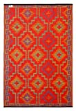 Fab Habitat 5-Feet by 8-Feet Lhasa Indoor/Outdoor Rug, Orange and Violet