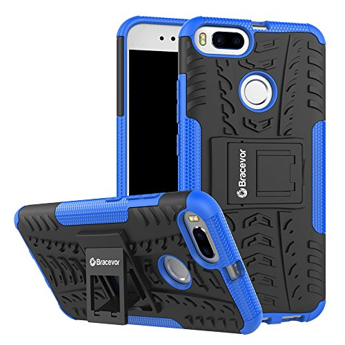 Bracevor Shockproof Hybrid Kickstand Back Case Defender Cover for Xiaomi Mi A1   Blue